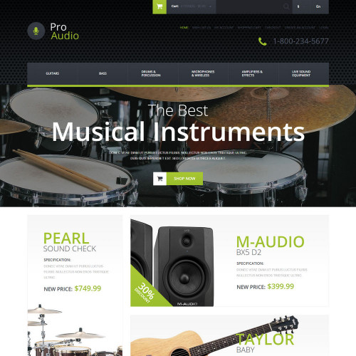 Làm website nhạc cụ 16