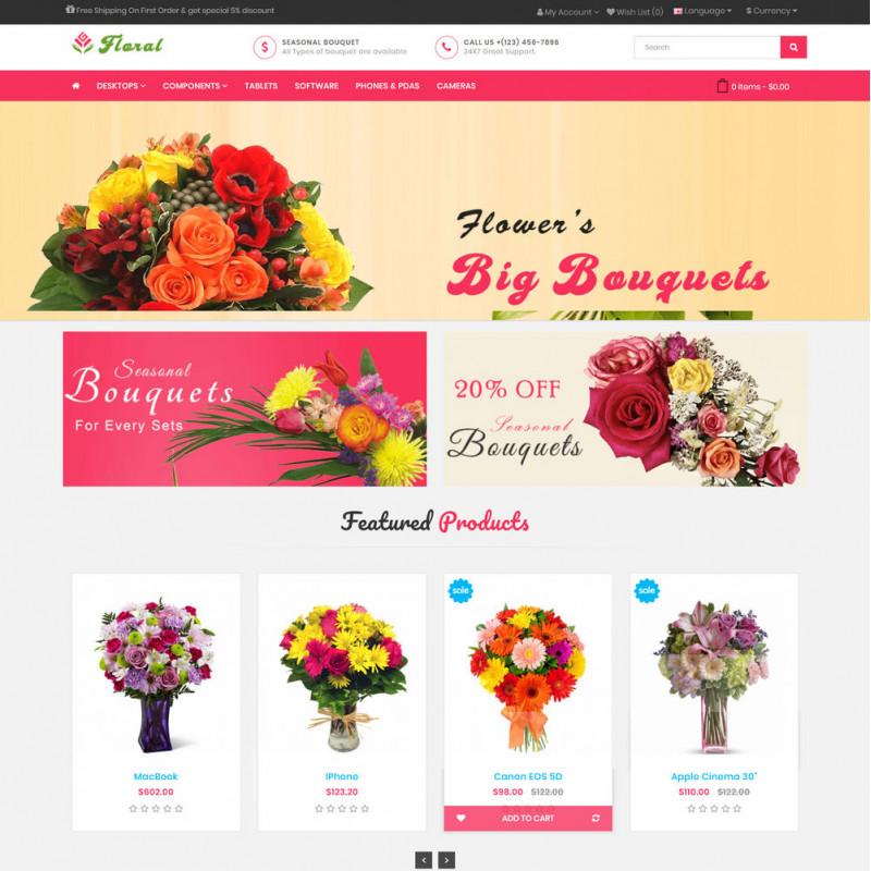 Làm website hoa tươi 03