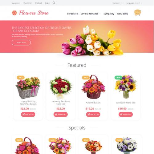 Làm website hoa tươi 05