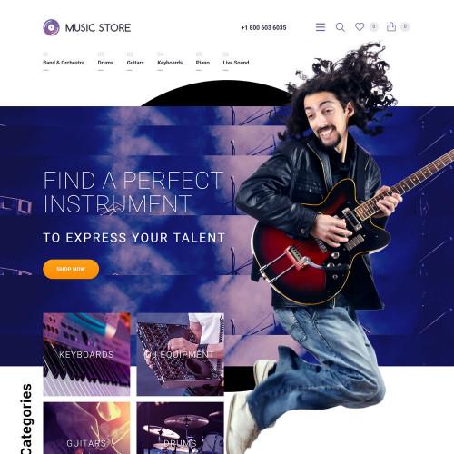 Làm website nhạc cụ 09