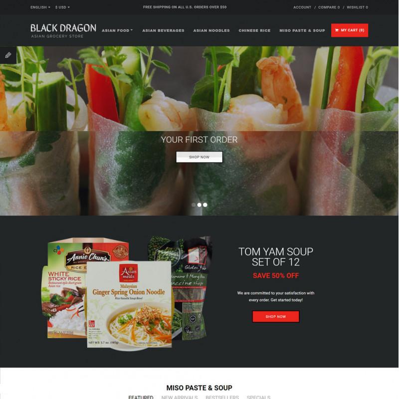 Mẫu web thực phẩm và đồ uống 04