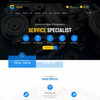 Làm website dịch vụ bảo trì 03