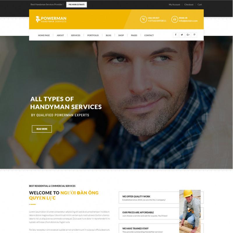 Làm website dịch vụ bảo trì 11