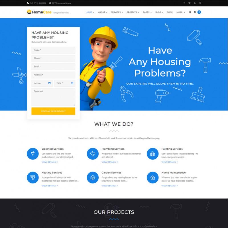 Làm website dịch vụ bảo trì 16