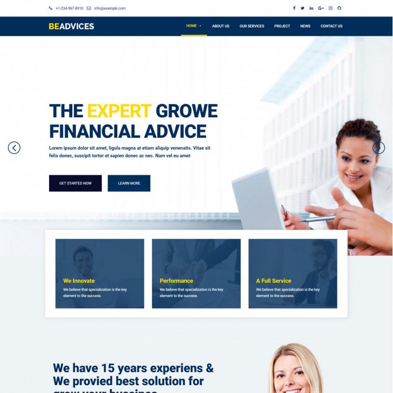 Làm website tài chính 23