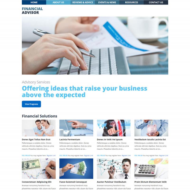 Làm website tài chính 77