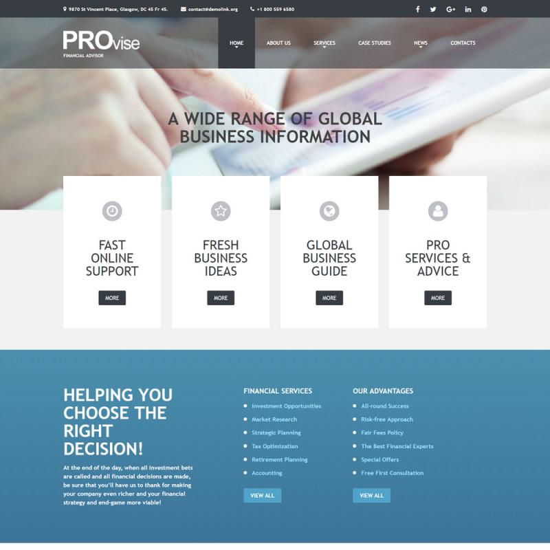 Làm website tài chính 78
