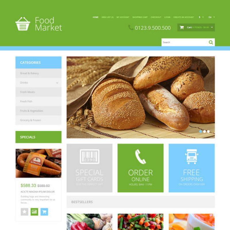 Mẫu web bán hàng thực phẩm 0002